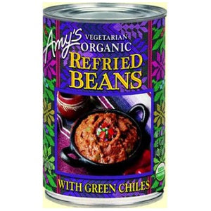 Amy's Organic Refried Beans w/ Green Chiles (398ml)