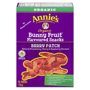 Annie's Homegrown Berry Patch Bunny Fruit 115g