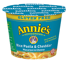 Annie's Homegrown Rice Pasta & Cheddar To Go Cup  57g