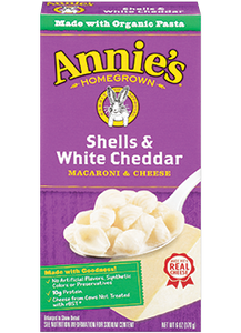 Annie's Homegrown Shells and White Cheddar 170g