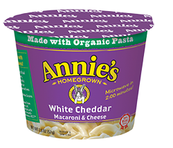 Annie's Homegrown White Cheddar To Go Cup 57g