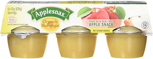Applesnax Organic Unsweetened Apple Sauce Cups 6/pack (678g)