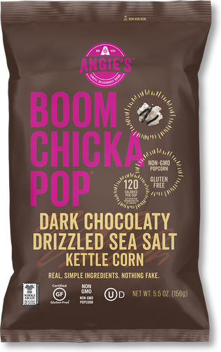 Boom Chicka Pop Dark Chocolaty Drizzled Sea Salt 128g