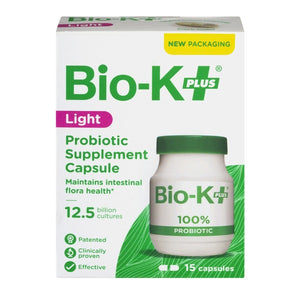 Bio-K Light 12.5 Billion Bacteria (15 Capsules)