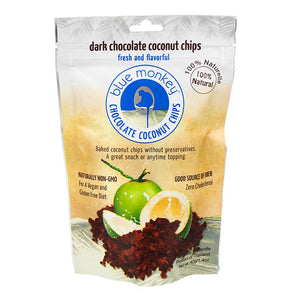 Blue Monkey Dark Chocolate Coconut Chips 40g