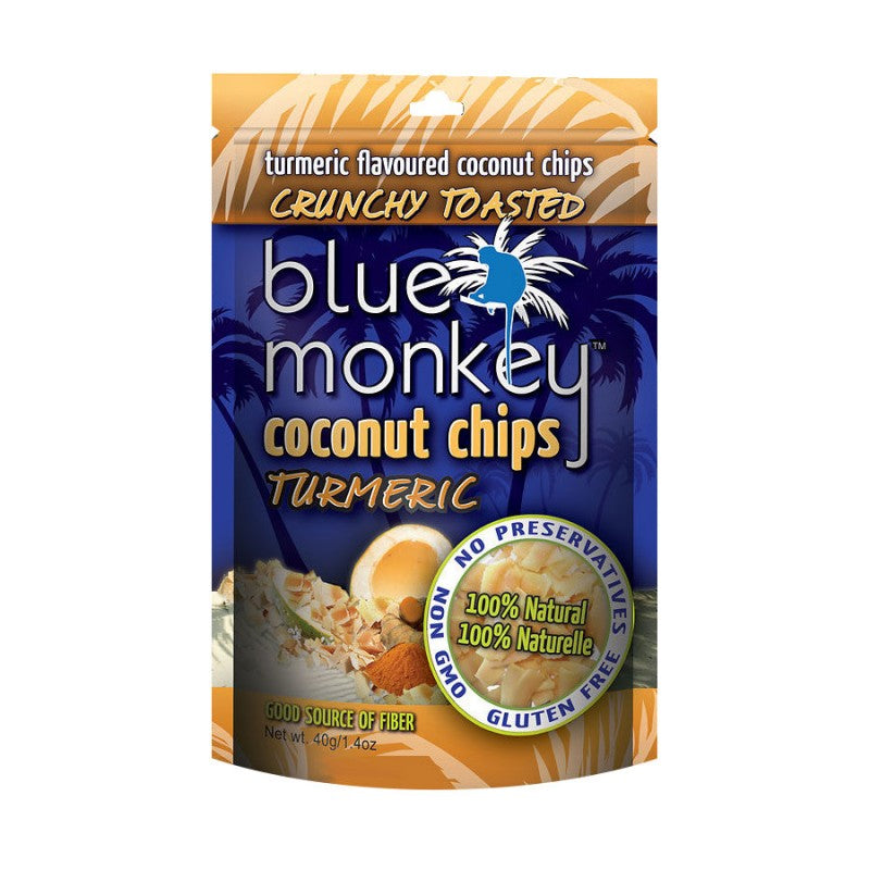 Blue Monkey Turmeric Coconut Chips 40g