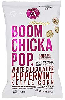 Boom Chicka Pop White Chocolate & Peppermint 128g