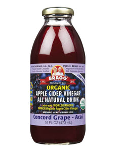Bragg Concord Grape Apple Cider Vinegar Drink (473ml)