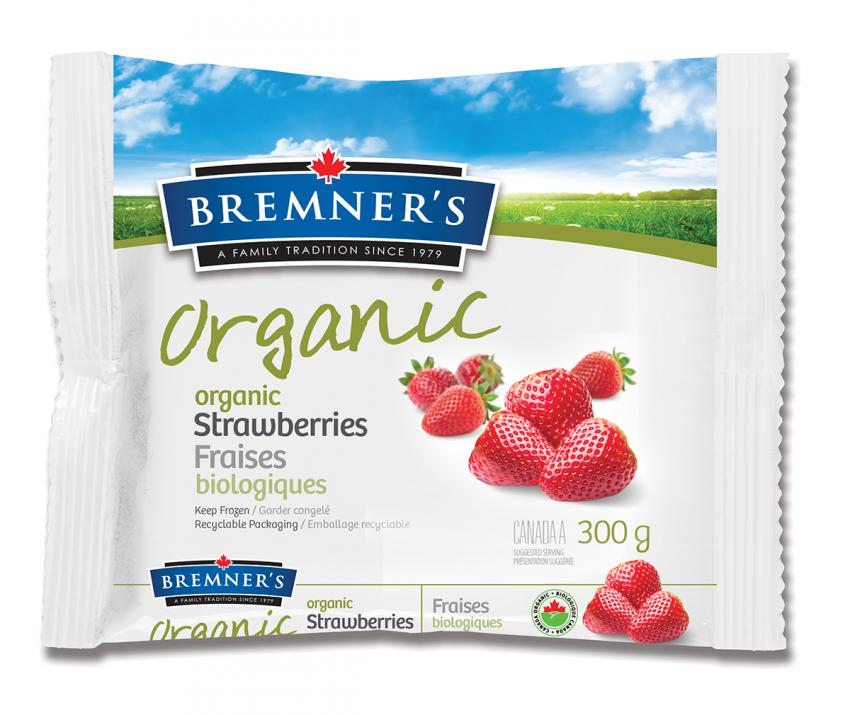 Bremner's Organic Frozen Strawberries (300g)