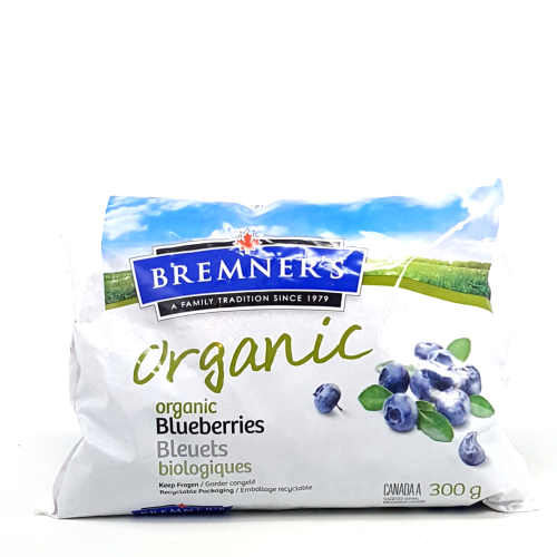 Bremner's Organic Frozen Blueberries (1.5kg)