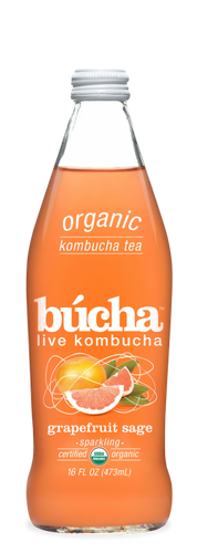 Bucha Grapefruit Sage Kombucha 473ml