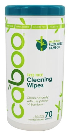 Caboo Cleaning Wipes Apple Scent (70 Wipes)