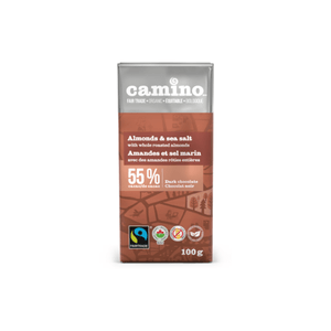 Camino Almonds & Sea Salt 55% Dark Chocolate Bar (100g)