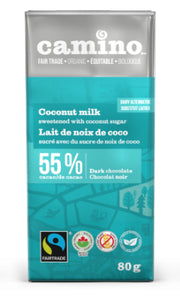 Camino Coconut Milk 55% Dark Chocolate Bar (80g)