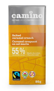 Camino Salted Caramel Crunch 55% Dark Chocolate Bar (80g)