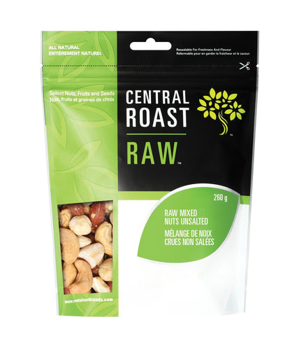 Central Roast Raw Mixed Nuts Unsalted (260g)