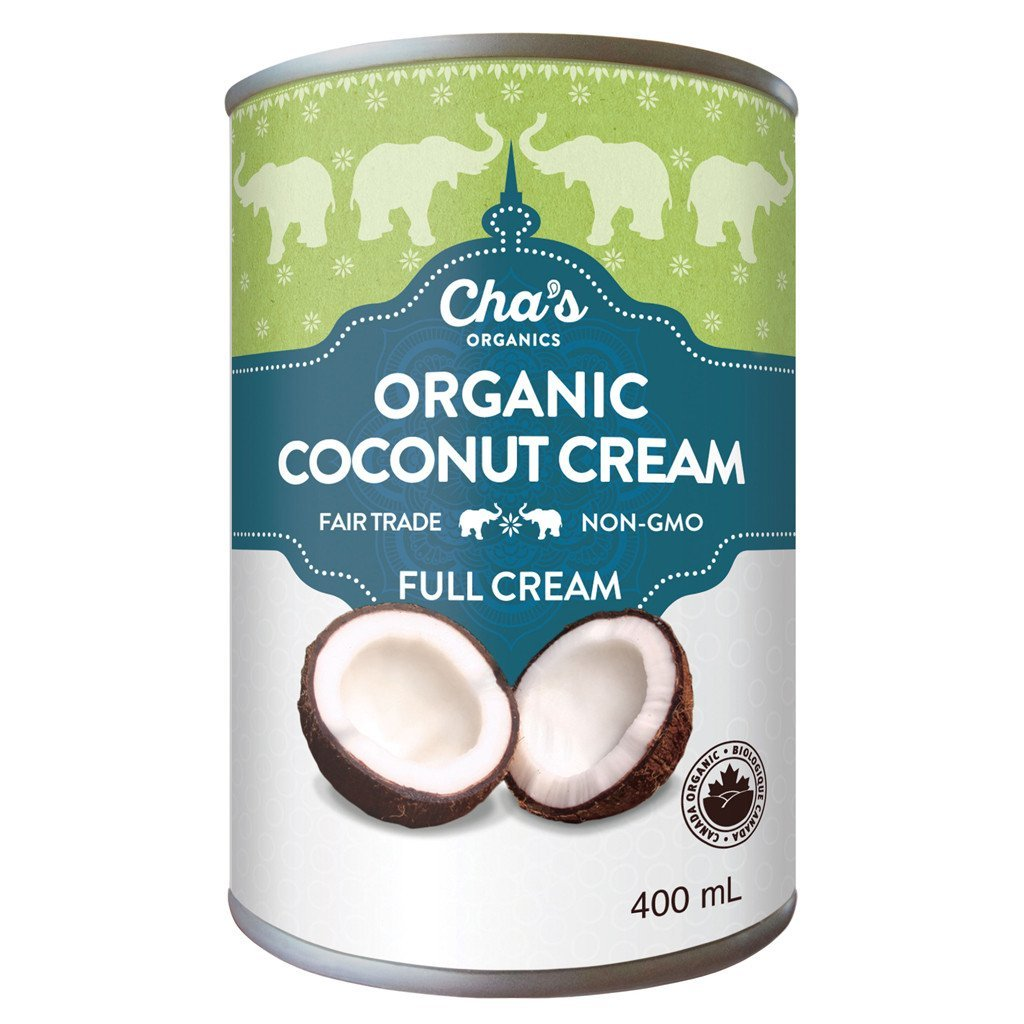 Cha's Organic Full Fat Coconut Cream 400ml