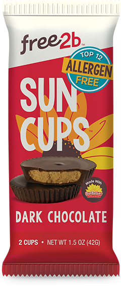 Free2b Dark Chocolate Sun Cups (2/pack)