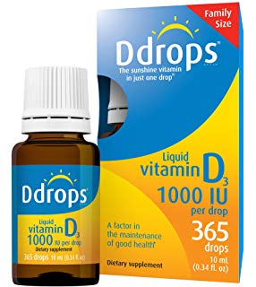 Ddrops Liquid Vitamin D 1000UI (365 Drops)