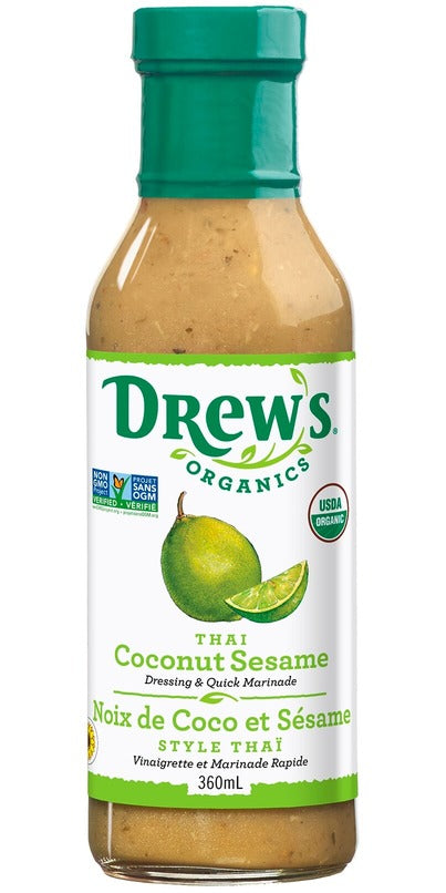 Drew's Organics Thai Coconut Sesame Dressing (360ml)