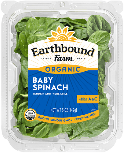 Earthbound Organic Baby Spinach (5oz.)