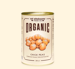 Eat Wholesome Food Co. Organic Chickpeas 398ml