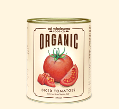 Eat Wholesome Food Co. Organic Diced Tomatoes 796ml