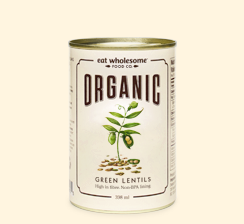Eat Wholesome Food Co. Organic Green Lentils 398ml