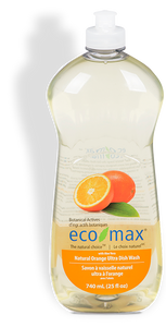 EcoMax Natural Orange Ultra Dish Washing Soap (740ml)