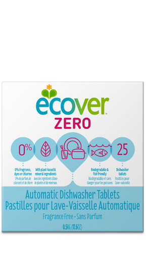 Ecover Automatic Dishwasher Tablets Fragrance Free (25 Tablets)