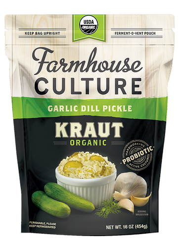 Farmhouse Culture Garlic Dill Pickle Kraut 454g