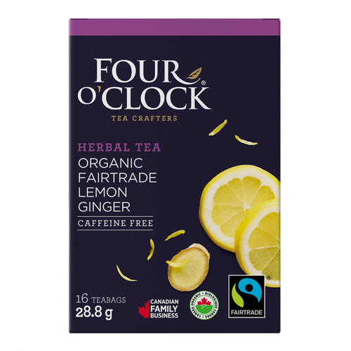 Four O'Clock Herbal Tea Lemon Ginger (16 Tea Bags)