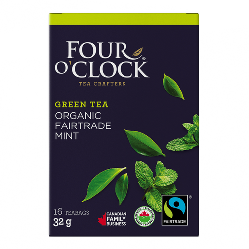 Four O'Clock Herbal Peppermint Tea (16 Tea Bags)