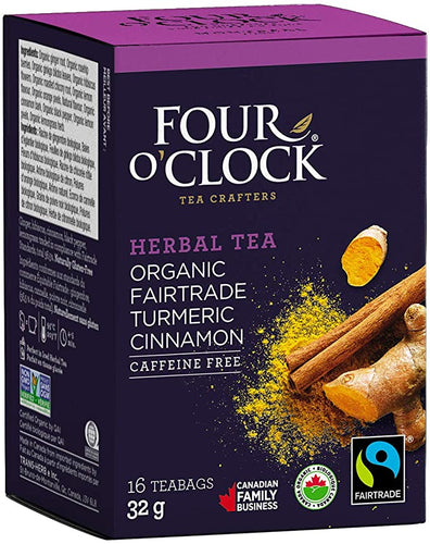 Four O'Clock Herbal Tea Turmeric Cinnamon (16 Tea Bags)