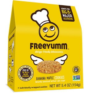 FreeYumm Banana Maple Cookies (7/pack)