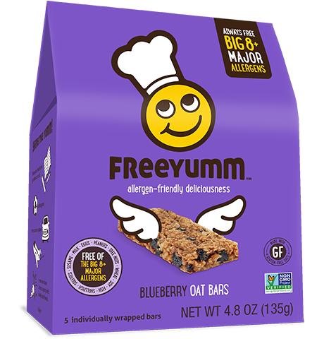 FreeYumm Blueberry Oat Bars (5 Bars)