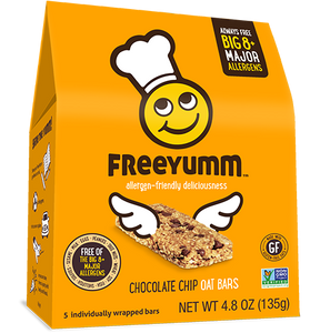 FreeYumm Chocolate Chip Oat Bars (5 Bars)