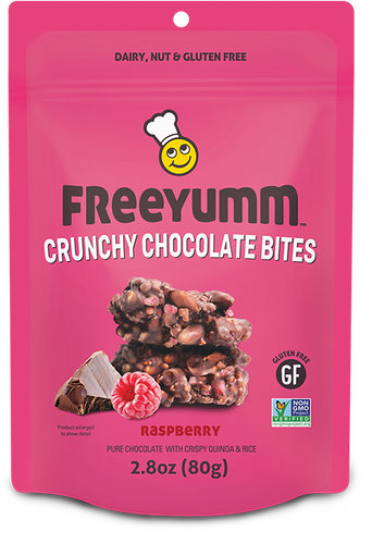 FreeYumm Raspberry Crunchy Chocolate Bites (80g)