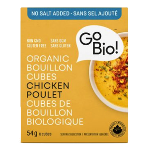Go-Bio Organic Chicken Bouillon Cubes - No Salt Added (54g)