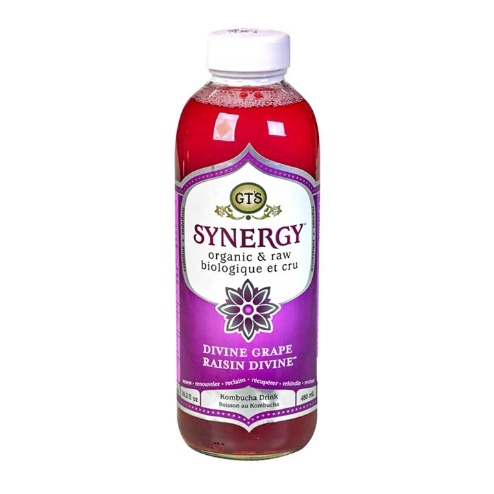 GT's Organic Divine Grape Kombucha (480ml)