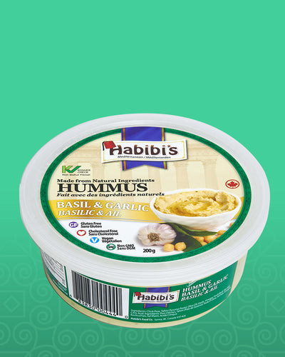 Habibi's Basil and Garlic Hummus (200g)