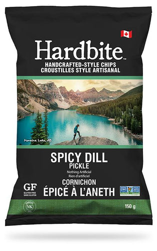 Hardbite Spicy Dill Pickle Chips 150g