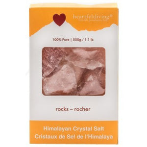 Heartfelt Living Himalayan Crystal Salt Rocks (500g)