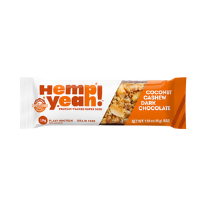 Manitoba Harvest Hemp Yeah! Coconut Cashew Dark Chocolate Bar (45g)