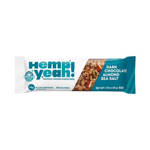 Manitoba Harvest Hemp Yeah! Dark Chocolate Almond Sea Salt Bar (45g)
