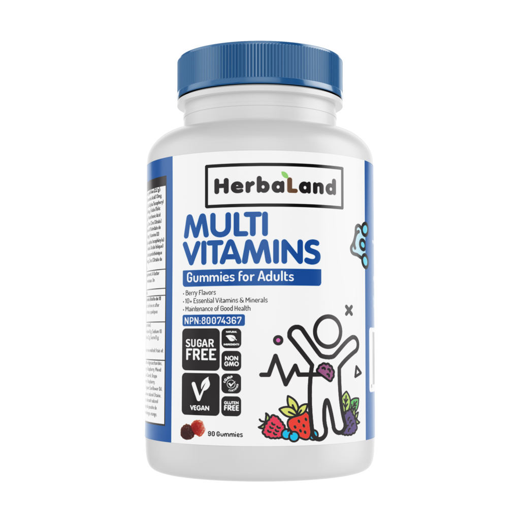 Herbaland Vegan Multi Vitamin Gummies for Adults (90 Gummies)