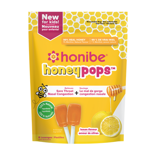 Honibe Lemon Honey Pops (8/Pack)