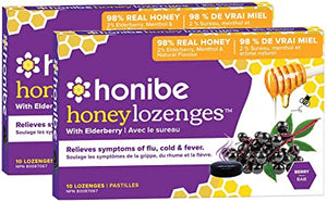 Honibe Honey Lozenges w/ Elderberry (10 Lozenges)