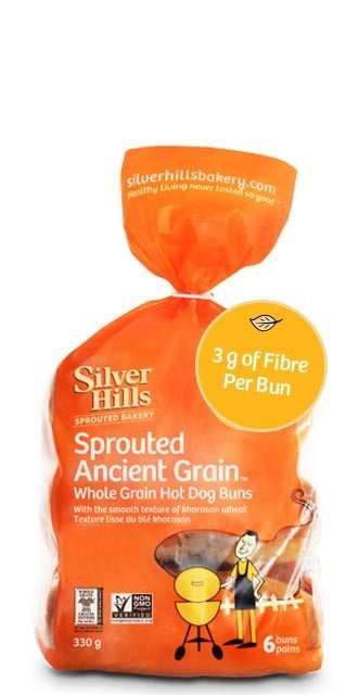 Silver Hills Sprouted Hot Dog Buns (6 Buns)