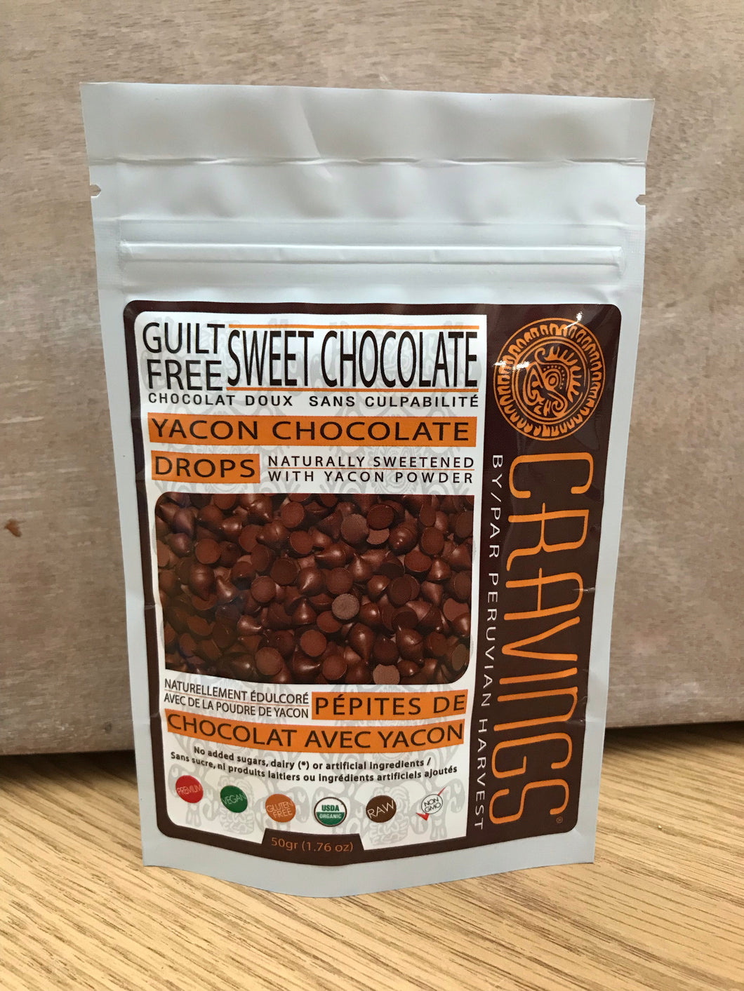 Peruvian Harvest Cravings Yacon Chocolate Drops (50g)